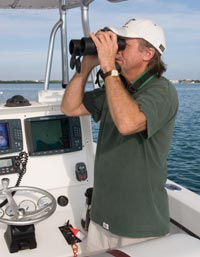 testing at sea for our binocular review