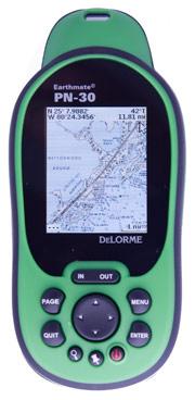 delorme earthmate pn-30 handheld marine gps