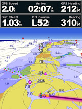 garmin 546s perspective 3D view