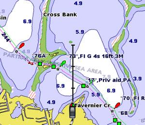 garmin 740s chart detail