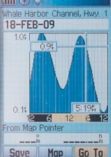 To show the tide data page seen here, set the cursor over a tidal station icon and hit the enter key.
