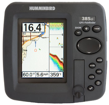 humminbird 385ci chartplotter fishfinder combo unit