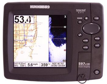 humminbird 597ci hd di chartplotter fishfinder combo unit