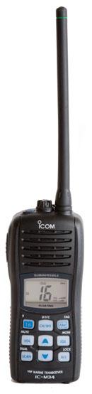 icom m34 handheld vhf radio