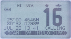 icom ic-m92d screen