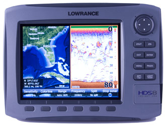 lowrance hds-10 gps chartplotter fishfinder
