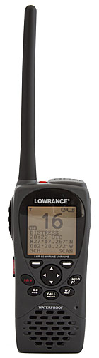 Lowrance lhr-80 floating handheld vhf radio