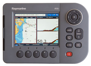 raymarine a50d chartplotter fishfinder combo