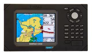 simrad cx33 e chartplotter fishfinder
