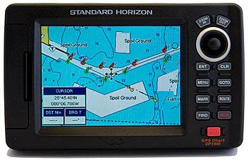 standard horizon cp190i gps marine chartplotter