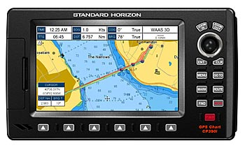 standard horizon cp390i gps marine chartplotter