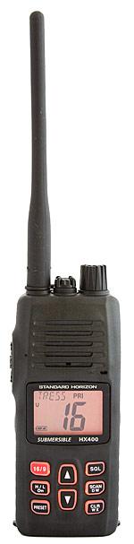 standard horizon hx400 floating handheld marine vhf radio