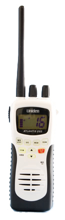 uniden atlantis 250 handheld vhf radio