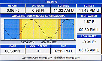 standard horizon cp390i chartplotter chart page